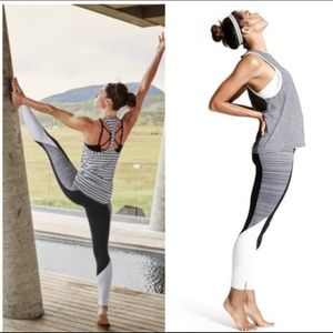 Athleta High Rise Jacquard Flow Chaturanga Tight